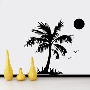 Fashion Coconut Tree Wall Sticker Home Decor For Living Room Decoration Wall Decals Room Decoration naklejki wallstickers