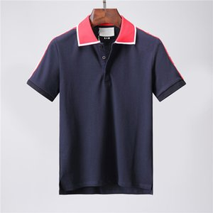 2020 luxurious Designers Polo Shirts Men Casual Polos Fashion Letter Print Embroidery T Shirt High Street Mens Cotton Polos