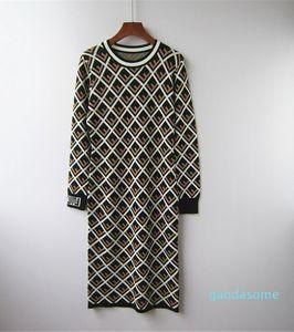 Women &#039 ;S Jacquard Rhomboids Knitwear F Shaped Ice Floss Long Knit Skirt Early Fall 2018 Leisure Bottom Dress