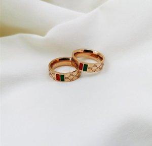 Mulheres Moda Anel Rose Gold Rings Designer de Luxo Jóias para o casamento festa da alta qualidade Anel de aço inoxidável