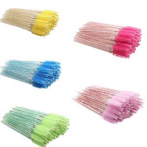 JANYUU Crystal Eyelashes Brush 1000 pcs Diamond Handle Brush Mascara Wands Applicator Cosmetic Disposable Make Up Brushes