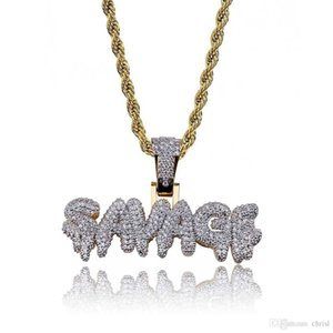 Hip Hop Iced Out Full CZ Stone Gold Color Plated SAVAGE Pendant Necklace