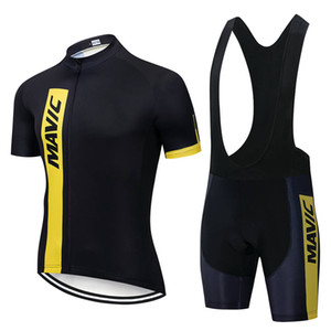 Ciclismo Jersey Set Ropa Ciclismo Maillot Wear Mavic 2019 Pro Cycling Team Vestuário / Road Bike Corrida de roupa rápido do Men Dry