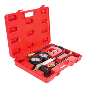 Freeshipping 0-100PSI Dual Gauged Cylinder Leakage Detector and Crank Stopper for Engine Cylinder Leak Tester Gauge Tool for Petrol Engine