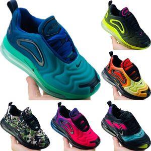 Nike Air Max 720 개기 일식 일몰 오로라 일 밤 진정한 소년 소녀 네온 후퇴 미래 디자이너 스니커즈 신발을 실행하는 새로운 주요 720 키즈