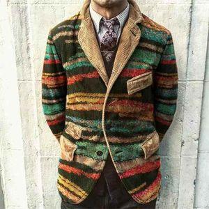 رجل كودري الحلل مصمم المطبوعة زائد حجم سترة الخريف الرجال معطف سليم