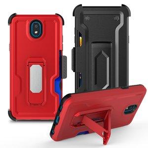 caja del teléfono móvil dura de la PC caliente de la venta de la fábrica para LG X2 caja del teléfono cubierta de armadura resistente a prueba de golpes volver pata de cabra 2019 K30 2019 con clip para cinturón