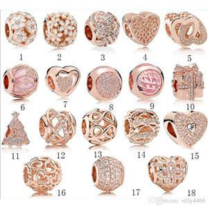 2020 Heißer Verkauf S925 Sterling Silber Schmuck Diy Beads für Pandora Ale Charm Für Pandora-Armbänder für Frauen stieg europäischen Goldfarbe Perlen