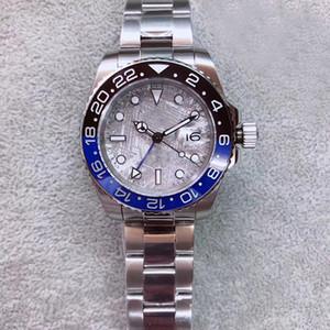 2019 U1 Nuevo Estilo de Calidad Superior Automático 5833 Joya Movimiento GMT II Cerámica Bisel Dial Hombres Reloj 316 Banda Staiinless Envío Gratis