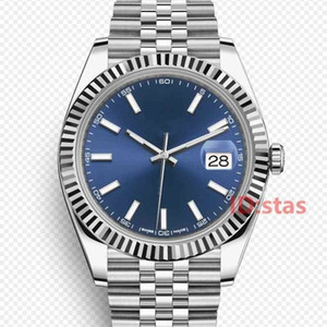 로즈 골드 럭셔리 Datejust 자동 기계 운동 어두운 로듐 다이얼 jubilee 팔찌 여성 스포츠 시계 남자 망 시계 손목 시계