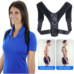 Brace Suporte cinto ajustável Voltar Posture Corrector Clavícula Spine Voltar Shoulder lombar Postura Correction