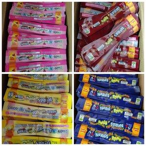 Empollones cuerda Vacía Jalea de frutas bolsa de plástico Edibles empaquetado al por menor 4 Estilos medicado Olor a prueba de Bolsas Tres bolsa de sellado del borde de lámina packa Alimentos