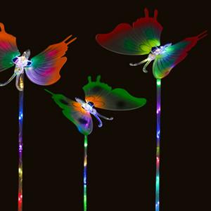 10PCS 여자 깜박이는 LED 빛 요정 나비 날개 지팡이 머리띠 의상 최고의 크리스마스 선물 최저 가격 2019 핫 판매