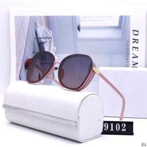 hot 9102 Designer Sunglasses For Women Letters Acetate Legs Retro Style UV Protection CR-39 Lens Square Full Frame Come With Case ELKE