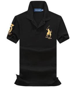 НОВЫЙ 100% хлопок Китай Марка Маленькая Лошадь Стенд Воротник Гольф POLOS мужская мода Лето с короткими рукавами рубашки ПОЛО повседневная мужская Дизайнер ПОЛОС