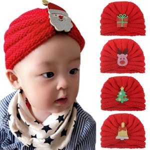 5pcs lot Christmas Hat for Baby Girls Knit Beanie Winter Hats for Holiday Party, Red Xmas Party Cap Christmas Decor
