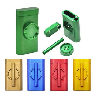Metal Dugout One Hitter Smoke Machine Set With Smoking Pipe Grinder case Pinch Hitter Abrader Combo Cigarette Holder Filter Cans