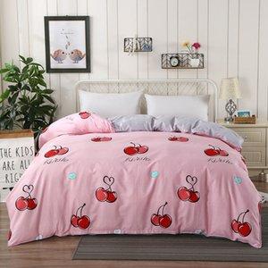 Pure Color vento Cama artigo afortunado do encanto Little Fish cama de solteiro peça Suíte capa do edredon Student