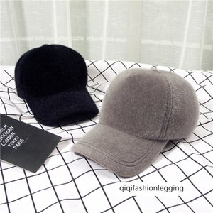 Foreign-style plush solid color baseball black warm bend duck tongue hat men and women