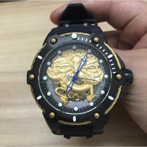 Top qualidade do modelo original da marca INVICTA: 26316 257788 26315 257768 diâmetro Dial 55mm Dragão relógios escultura Homens de luxo mecânicos
