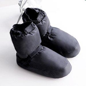 Ballet Nacional de invierno Zapatos del baile adultos danza moderna de algodón Ejercicios del calentamiento Calentador bailarina Botas