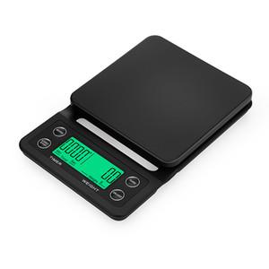 Digital 10pcs nuovo mini LCD Drip elettronica Caffè Scala con il temporizzatore 3kg 5kg 0.1g Digital Cucina Domestici Pesare scala dell'equilibrio Timer