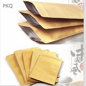 100pcs 13Sizes papel Kraft Doypack Pouch com folha de alumínio Snack Coffee armazenamento Resealable Zipper Bag