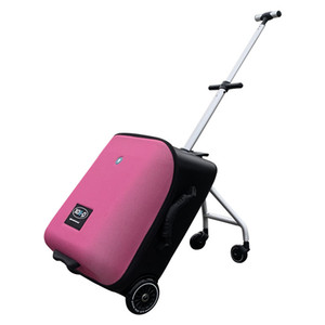 Popular Children's Trolley Case Luggage Boarding Suitcase Cardan Wheel Children Can Ride Light and Easy To Carry