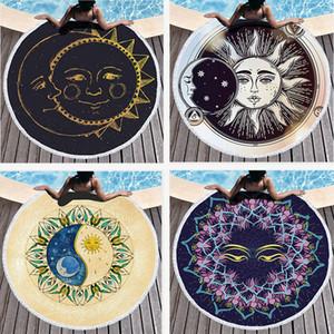 Полиэстер Круглый пляжное полотенце Хиппи Mandala гобелен Boho Хиппи Индийский Скатерть Yoga Mat Солнцезащитный шаль Wrap Пикник Мат RRA3114