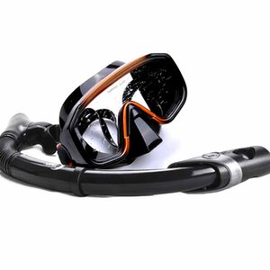 Gros-Snorkel Masque Set -Diving vitesse -Single objectif Frameless masque de plongée avec tuba W / sec Haut, Bas Robinet de purge, parfait ...