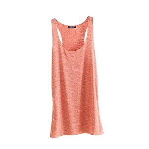 Fitness Tank Top T Shirt Vest Loose Model Women T-shirt Cotton O-neck Slim Tops Clothes C19041502