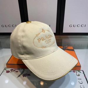 Mejor Lona de lujo de alta calidad Cap Hombres Mujeres Sombrero Deporte Ocio Strapback Hat Diseñador de estilo europeo Sombrero de sol Marca Gorra de béisbol con caja
