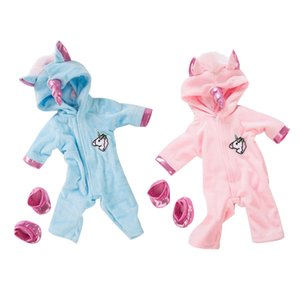 2 Pack Doll Clothes and Accessories, Jumpsuit Cute Hoodie with Shoes for 45cm Baby Dolls of 18 inches Girls Doll,Kids Birthday Gift