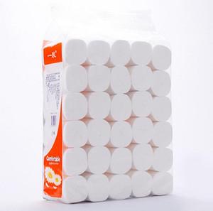 Быстрая доставка рулона туалетной бумаги 4 слоя домашнего туалета рулон бумаги первичной древесной целлюлозы туалетная бумага оптом рулон ткани FS9502