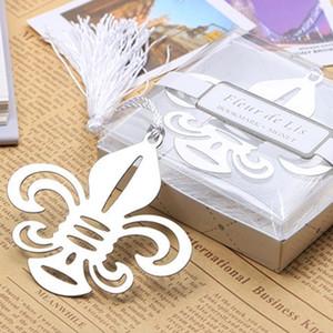 segnalibro in acciaio inox ospiti regalo di nozze fleur-de-lis ritorno omaggi wed piccolo cofanetto ricordo ornamento decorazione novità ciondolo