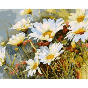GATYZTORY Zero Basis HandPainted Oil Painting Flowers Picture DIY Painting By Numbers Wall Decor Gift