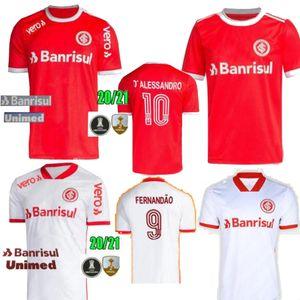 TAMANHO S-2XL 2020 Brasil Clube SC Internacional Início Red afastado branco camisa de futebol GUERRERO Mens N. LOPEZ camisa de futebol camisa de futebol 20 21