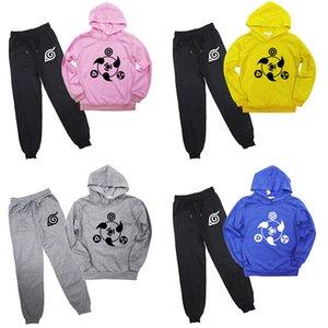 Kids Toddler Long Sleeve Naruto Sharingan Sweatshirt Pants Suit Kakashi Hoodies Funny Pullover Top Baby Boys Girls Hoodies