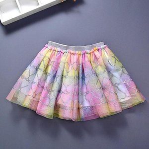 Party Costume Princess Fashion Girls Rainbow Glitter Sequins Layered Tulle Ballet Tutu Skirt Childrens Clothing Skirts & Skorts Baby & s5vN#