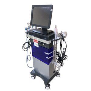 9 1 RF Ultrasonik Su Peel Cilt Bakımı Hydra Dermabrazyon Akne Tedavisi Tedavi Hidra elmas Peel hydrafacial hidra soyma makinesi içinde