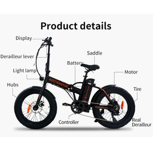 AOSTIRMOTOR Elektrikli Bisiklet Katlanabilir Fat Tire Elektrikli Bisiklet Sahil Cruiser e-Bisiklet 500W Booster Ebike 36V 13Ah Lityum Batarya