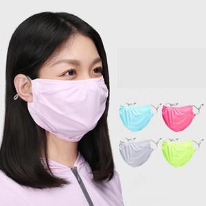 Summer Sunscreen Face Mask Anti Dust Thin Breathable UV Protection Sunshade Masks Women Cycling Maks LJJO7682