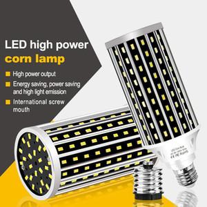AC100-277V E27 50W 2835 Ventilador de enfriamiento LED Bombilla de luz de maíz sin cubierta de lámpara para decoración de hogar interior Droplight Street Streetlight LED