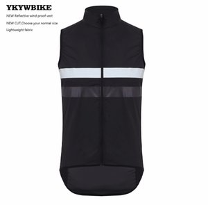 YKYWBIKE Ciclismo chaleco reflectante chaleco de bolsillo con cremallera a prueba de viento de ciclo impermeable Gilet Diseño personalizado Chaleco de ciclismo Ropa Ciclismo