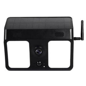 무선 WiFi 1080P 태양 전지는 모션 센서 투광 조명 야외, 나이트 비전, 모션 알람으로 IP 보안 카메라를 구동