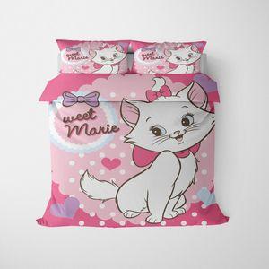 3D Impreso Marie verano del gato del lecho de funda nórdica de almohada Ropa de cama cubierta de edredón para niños Twin Queen completa