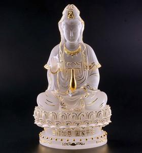 couleur Purdue de qualité haute ancienne émaillée sculpture statue de Guanyin Bouddha pour la sécurité et la paix d'envoyer à un ami un cadeau