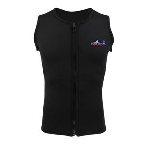Günstige Wetsuit 2mm Männer Wetsuit Vest ärmel Neopren Reißverschluss Half Body Badetauchanzug für Tauchen Surfen Rashguard S M L