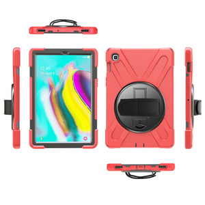"For Samsung S5E 10.5"" T720 2019 Poetic Full-Body cover case Shockproof Rotating Hand Strap+ Shoulder Strap+kickstand Galaxy SM-T720 T725"