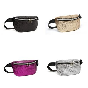 Sequin Glitter Waist Fanny Pack Sparkly Waist Bag Adjustable Strap Crossbody Shoulder Bag Sequin Purse Pouch Pocket Clutch Bag